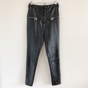 I.AM.GIA Geldof Vegan Leather Black Pants Medium